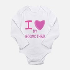 Pink I Heart (Love) Godmother Long Sleeve Infant B