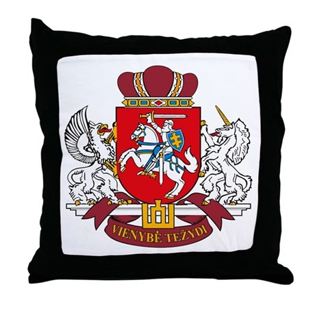 Lithuania Coat of Arms Throw Pillow