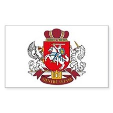 Lithuania Coat of Arms Rectangle Decal