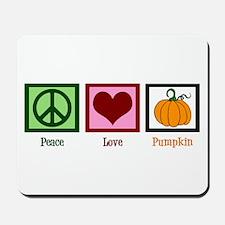 Peace Love Pumpkin Mousepad
