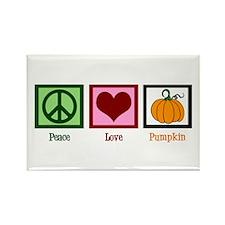 Peace Love Pumpkin Rectangle Magnet