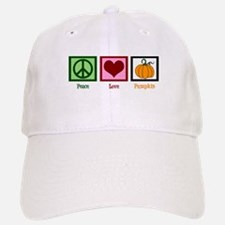 Peace Love Pumpkin Baseball Baseball Cap