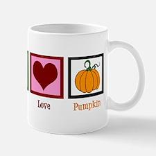 Peace Love Pumpkin Small Small Mug