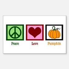 Peace Love Pumpkin Decal