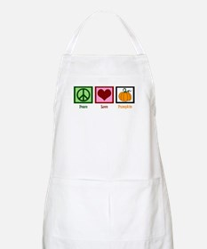 Peace Love Pumpkin Apron