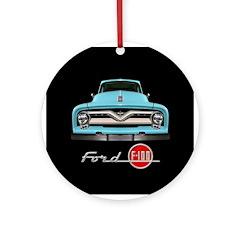 Ford F-100 Ornament (Round)
