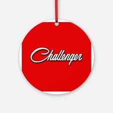 Challenger Logo Ornament (Round)