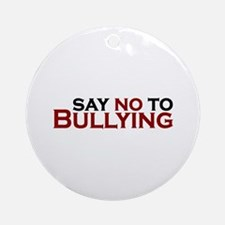 Say No To Bullying Ornament (Round)