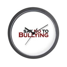 Say No To Bullying Wall Clock