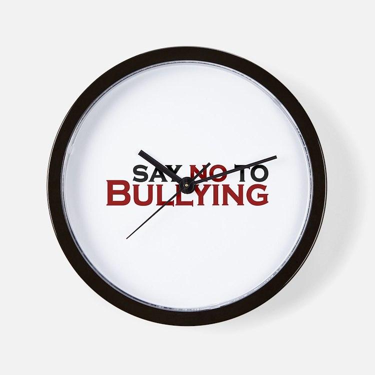 Say No To Bullying Wall Clock