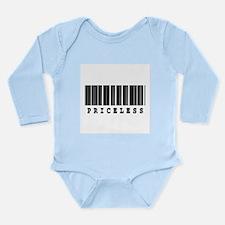 Priceless Barcode Design Long Sleeve Infant Bodysu