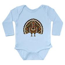 Fall Turkey Long Sleeve Infant Bodysuit