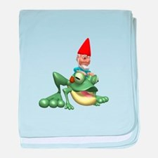 Gnome Riding a Frog Infant Blanket