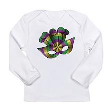 Mardi Gras Mask Long Sleeve Infant T-Shirt