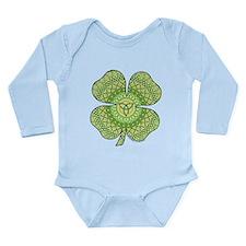 Celtic Shamrock Long Sleeve Infant Bodysuit