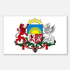 Latvia Coat of Arms Rectangle Decal