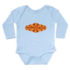 Orange Illusion Long Sleeve Infant Bodysuit
