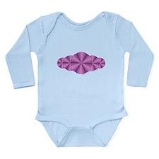 Purple Illusion Long Sleeve Infant Bodysuit