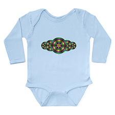 Mardi Gras Illusion Long Sleeve Infant Bodysuit