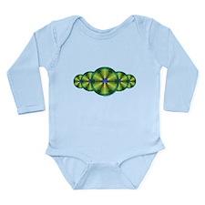Peacock Illusion Long Sleeve Infant Bodysuit