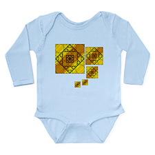 Fractal Geometry Long Sleeve Infant Bodysuit