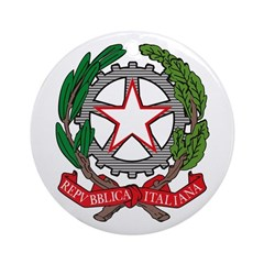 Italian Coat of Arms Ornament (Round)
