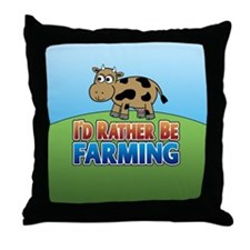 Farmville Inspired Cow Throw Pillow