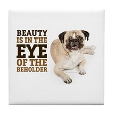 RD Pug Beauty Tile Coaster