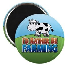 Farmville Inspired Cow Magnet