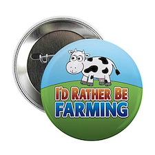 """Farmville Inspired Cow 2.25"""" Button"""
