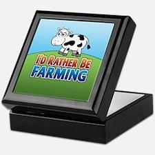 Farmville Inspired Cow Keepsake Box