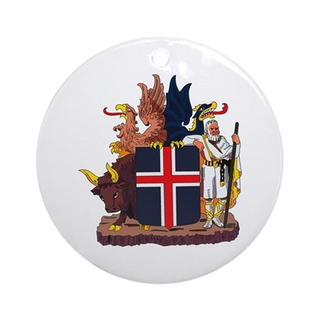 Iceland Coat of Arms Ornament (Round)