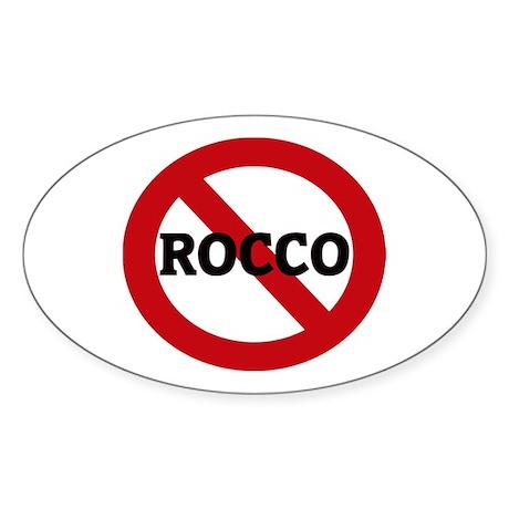 Anti-Rocco Oval Sticker
