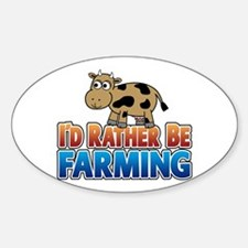 Farmville Inspired Cow Sticker (Oval)