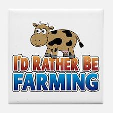 Farmville Inspired Cow Tile Coaster