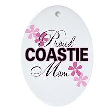 Proud Coastie Mom Ornament (Oval)