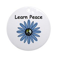 Learn Peace Ornament (Round)
