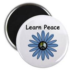 "Learn Peace 2.25"" Magnet (10 pack)"
