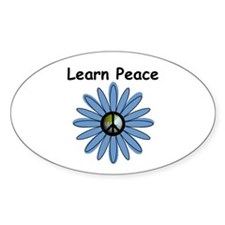 Learn Peace Oval Decal