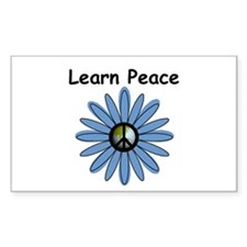 Learn Peace Rectangle Decal