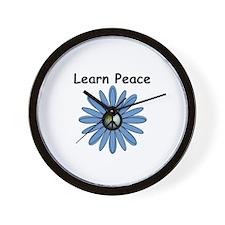 Learn Peace Wall Clock