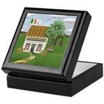 St. Patrick's Day Cottage Keepsake Box