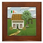 St. Patrick's Day Cottage Framed Tile