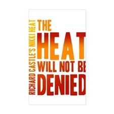 Castle The Heat Will Not Be Denied Decal