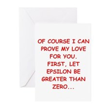 funny math joke Greeting Cards (Pk of 10)