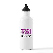 TRI like a girl Water Bottle
