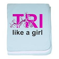 TRI like a girl Infant Blanket