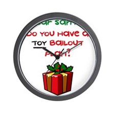 Toy Bailout Plan Wall Clock