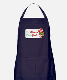 To Women from God Apron (dark)