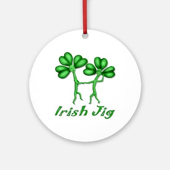 Irish Jig Ornament (Round)